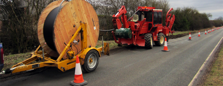 mole plouging for cable laying